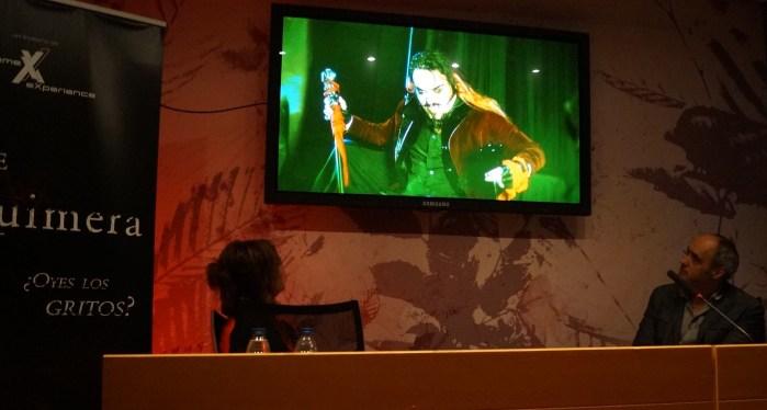 CÓDICE QUIMERA. Un momento de la presentación de la programación de Halloween en Villanúa. (FOTO: Rebeca Ruiz)