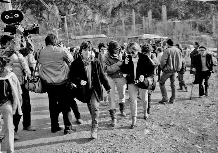 ALMANAQUE 2020. Llegada de mujeres a Plan. (FOTO: Victor Ibáñez, 1985)