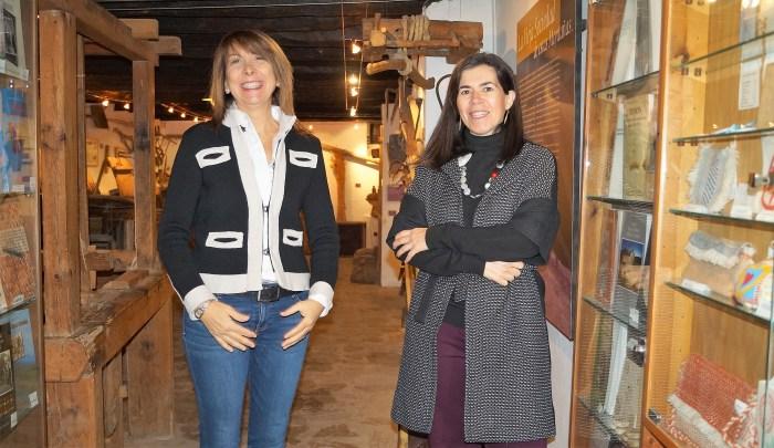 MUSEO ÁNGEL ORENSANZ Y ARTES DE SERRABLO. Berta Fernández y Begoña Subías. (FOTO: Rebeca Ruiz)