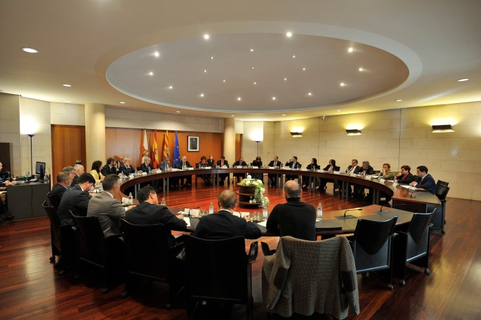 PRESUPUESTO. Un momento del pleno celebrado en la Diputación Provincial de Huesca (FOTO: DPH)