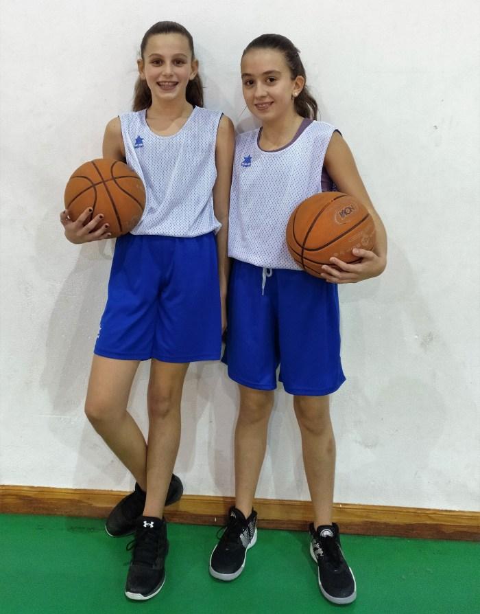 FEDERACIÓN ARAGONESA DE BALONCESTO. Jara Tabueña y Verónica Pardo, jugadoras del Club Baloncesto Jaca.