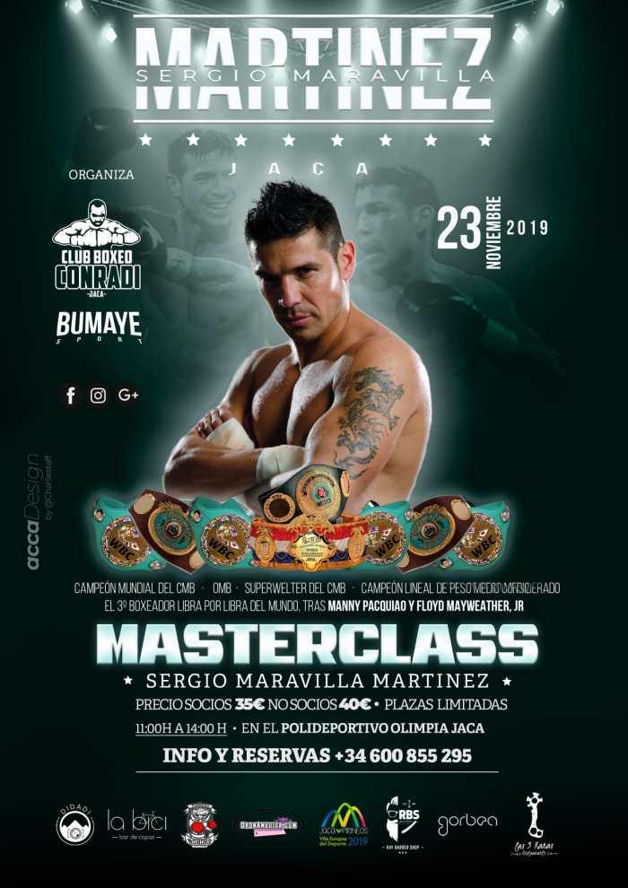 MASTERCLASS DE BOXEO. Sergio Maravilla estará en Jaca el próximo 23 de noviembre.