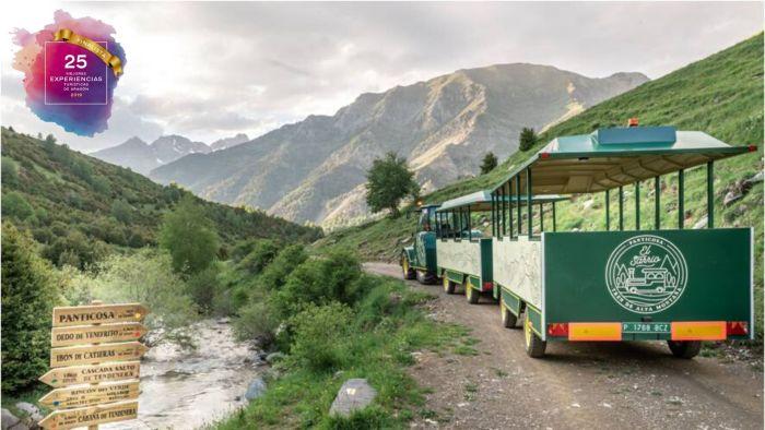 TREKKING EL SARRIO. Tren de Alta Montaña El Sarrio. a su llegada al valle de La Ripera.