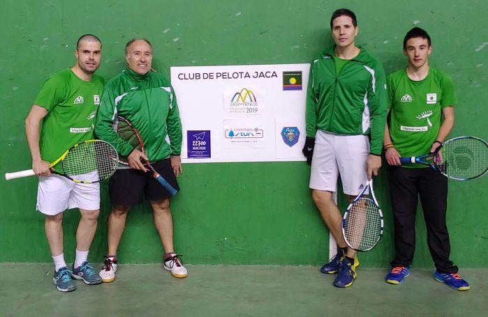 CLUB DE PELOTA JACA. Jugadores del Club de Pelota Jaca.