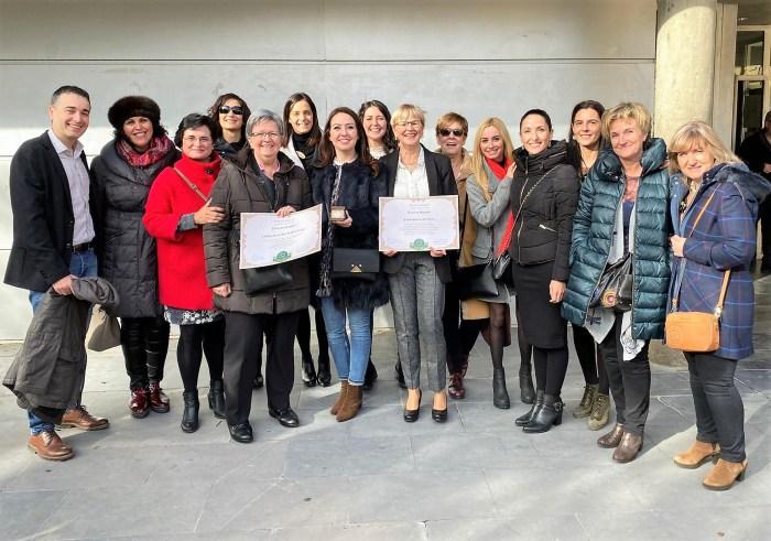 MAGISTER. El colegio Santa Ana de Sabiñánigo fue premiado en la modalidad colectiva e individual (en la persona de Josefa Suárez)