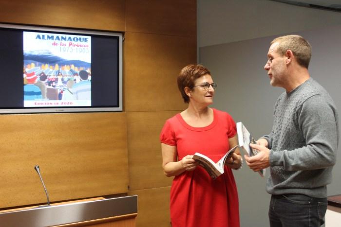 DIPUTACIÓN PROVINCIAL. Sergio Sánchez, junto a la diputada Maribel de Pablo, en la reciente presentación del Almanaque en la DPH.