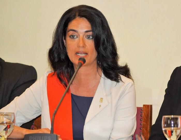 PRESUPUESTOS. Marta Moreno, concejala de Vox Jaca. (FOTO: Rebeca Ruiz)