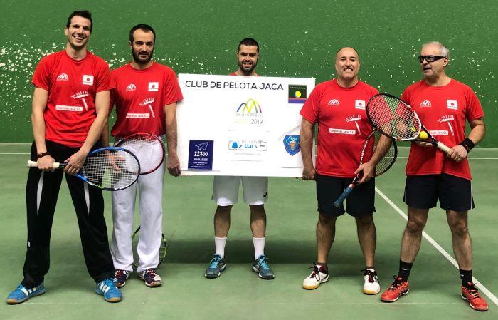 CLUB DE PELOTA JACA. Buena jornada en El Olivar. (FOTO: Club de Pelota Jaca)