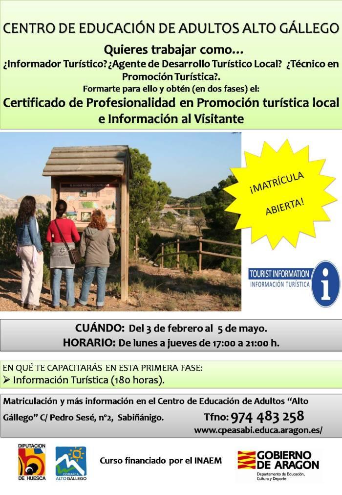 CERTIFICADO DE PROFESIONALIDAD. Turismo.