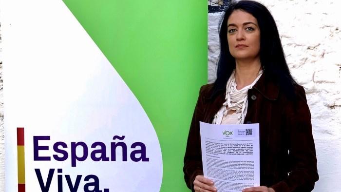 VOX. Marta Moreno, concejala de VOX en el Ayuntamiento de Jaca.