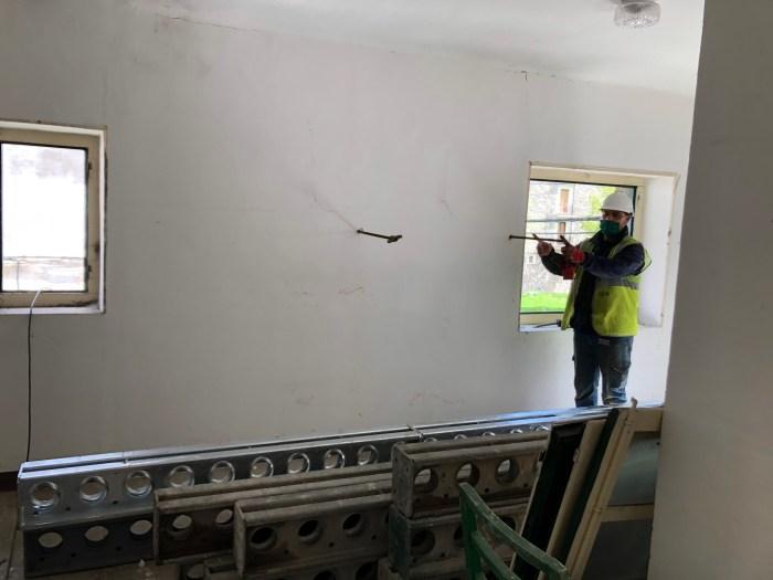 PROYECTO. Obras del nuevo Albergue de Peregrinos de Canfranc Pueblo. (FOTO: Ayuntamiento de Canfranc)