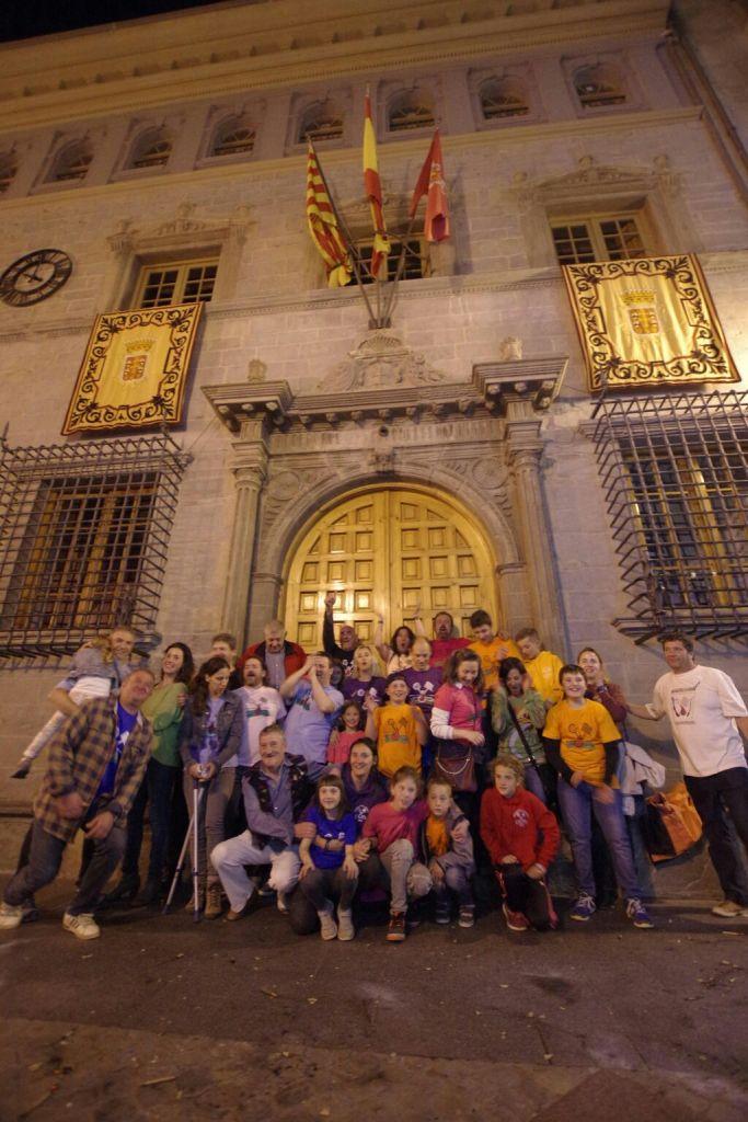 FIESTA. Mienbros de la Hermandad La Rasera, en una imagen de archivo.