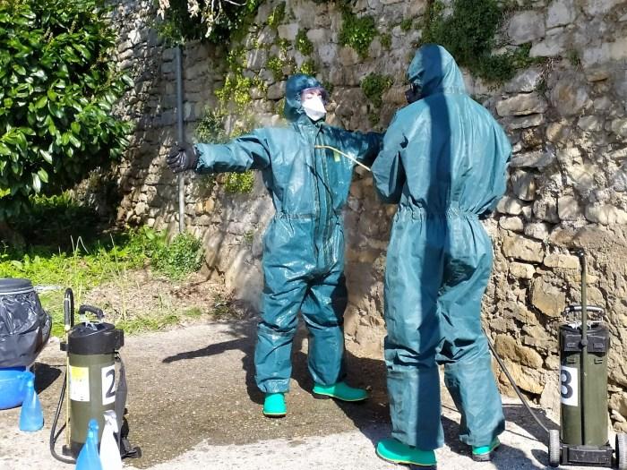 Descontaminación tras la limpieza. (FOTO: RICZM Galicia 64)