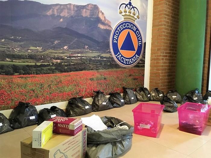 JACETANIA. Material de protección listo para su distribución. (FOTO: Comarca de la Jacetania)