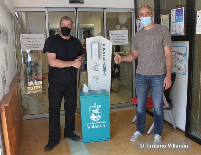 VILLANÚA. La localidad se refuerza con la instalación de 25 puntos de higiene y con una nueva brigada municipal. (FOTO: Turismo Villanúa)