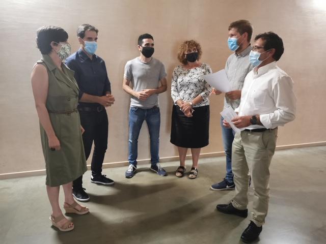 ENCUENTRO. Reunión de los presidentes comarcales preocupados por la situación de los Espacios Naturales Protegidos. (FOTO: Comarca de la Jacetania)