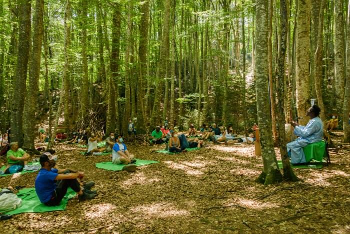 SONNA. Actuación del senegalés Ali Boulo Santo en el Bosque del Betato. (FOTO: DPH)