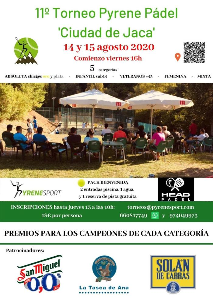 CARTEL. Torneo Pyrene Pádel Ciudad de Jaca.