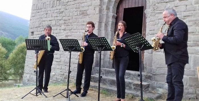A SON DE BUSA. Cuarteto de Saxofones de Sabiñánigo. (FOTO: Comarca Alto Gállego)