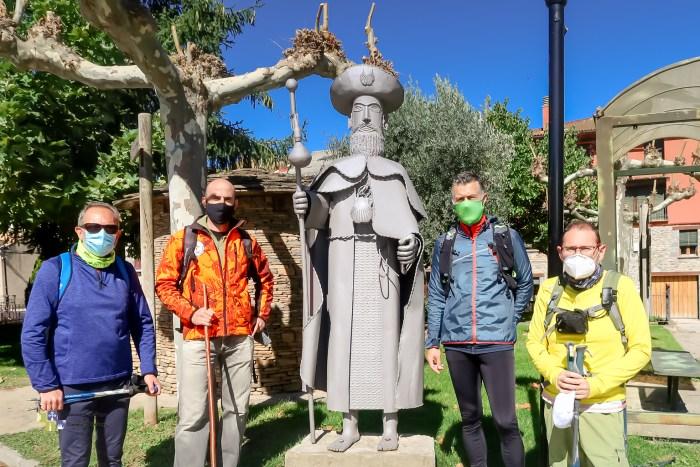 De izda. a dcha., Acín, Aísa, Serrano y Gazapo. (FOTO: Jaca Jacobea)