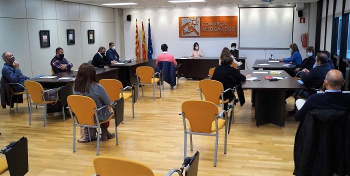 Reunión de la Mesa de la Nieve en Sabiñánigo. (FOTO: Rebeca Ruiz)