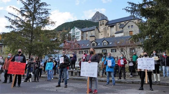 Un momento de la concentración de hostelería del pasado 24 de octubre.
