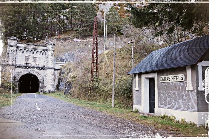 Túnel ferroviario de Somport, en Canfranc. (FOTO: Miguel Ramón Henares)