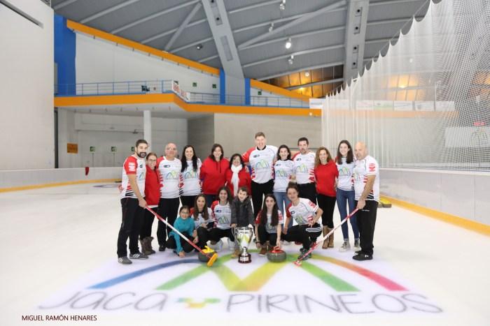 Club de Hielo del Pirineo Curling, en una imagen de archivo. (FOTO: Miguel Ramón)