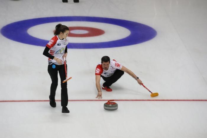 Nerea Torralba y José Manuel Sangüesa, se encuentra en Riga (Letonia) participando en el World Curling Tour Latvian Mixed Doubles.