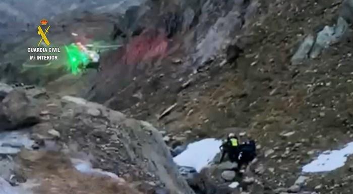 Rescate de un montañero cuando descendía de la Gran Facha.