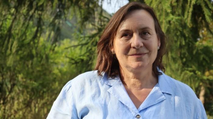 Matilde Campo, portavoz de Ciudadanos Jaca, defiende la adhesión de la ciudad a la Red de Ciudades Amigables con las Personas Mayores. (FOTO: Cs)