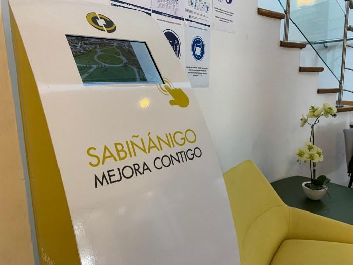 Terminal para participar en el programa Sabiñánigo mejora contigo, una nueva herramienta que tiene como objetivo impulsar la participación ciudadana. (FOTO: Ayuntamiento de Sabiñánigo)
