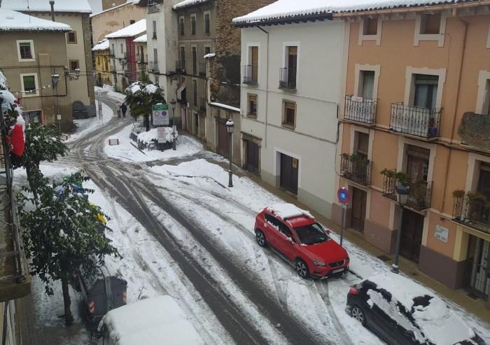 Nieve en Jaca. (FOTO: Servicio de Emergencias del Ayuntamiento de Jaca)