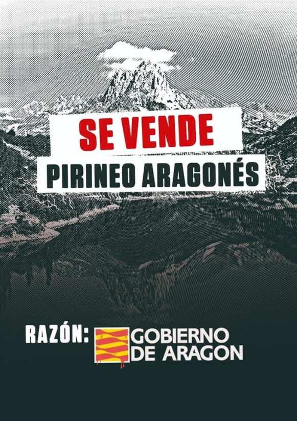 Cartel que se está haciendo viral, denunciando la situación del Pirineo ante las nueva restricciones de movilidad anunciadas por el Gobierno de Aragón.