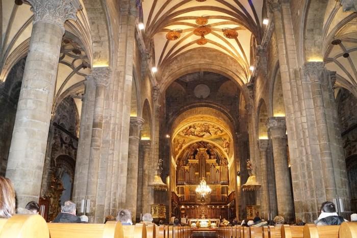 La Catedral de Jaca, durante la apertura del Año Santo Compostelano. (FOTO: Rebeca Ruiz)