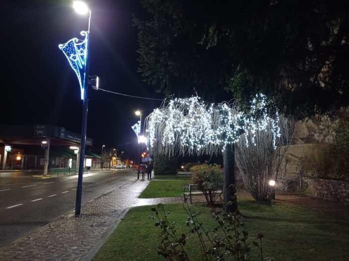 Iluminación navideña en Sabiñánigo. (FOTO: Anna Artiza)
