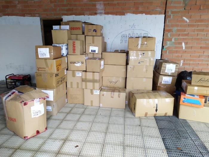 Ayuda humanitaria enviada a Bosnia por la Plataforma Pro Refugiados Alto Aragón.
