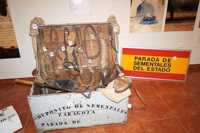 Exposición sobre la historia de la cría caballar en las Fuerzas Armadas. (FOTO: Rebeca Ruiz)