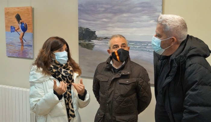 De izquierda a derecha, Nekane Garrués, Julio Rina y Andrés Blanco. (FOTO: Rebeca Ruiz)