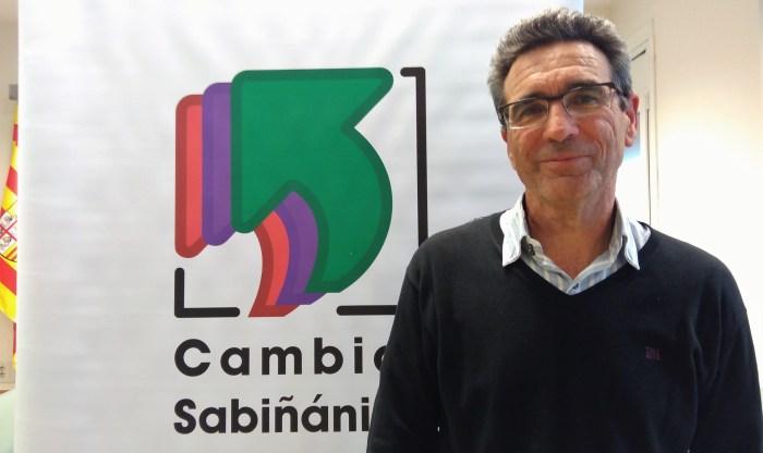 Javier Sadornil, portavoz de Cambiar Sabiñánigo.