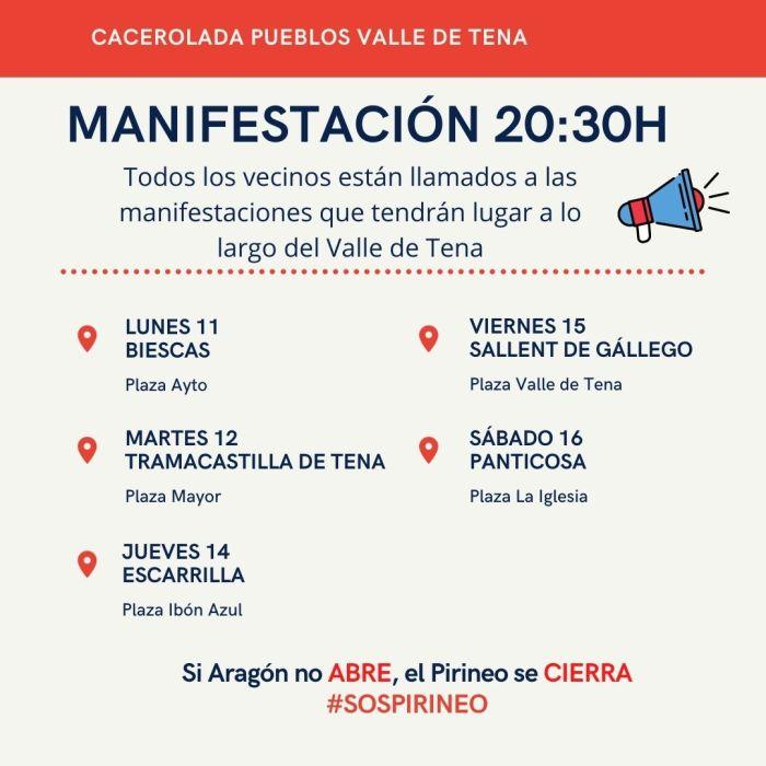 Caceroladas en el Valle de Tena bajo el eslogan #SOSPirineo