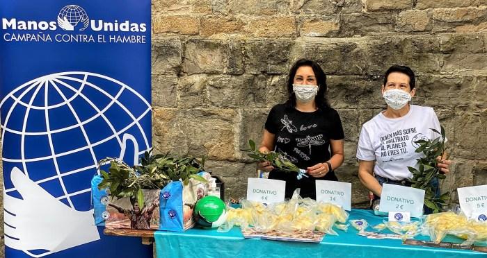 Las palmas de Semana Santa protagonizan la nueva campaña solidaria de Manos Unidas de Jaca. (FOTO: Manos Unidas de Jaca)