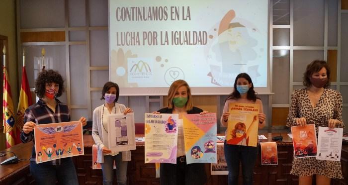 Jaca y Hecho se vuelcan con las actividades del Día Internacional de la Mujer. (FOTO: Rebeca Ruiz)
