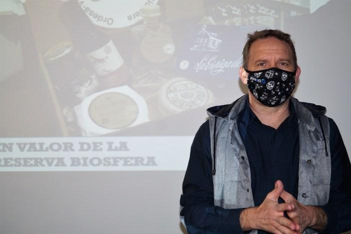 Sergio García, durante su intervención. (FOTO: Rebeca Ruiz)