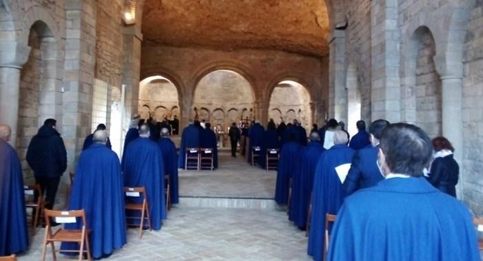 San Juan de la Peña conmemora el 950 aniversario del inicio del rito romano. (FOTO: Gobierno de Aragón)