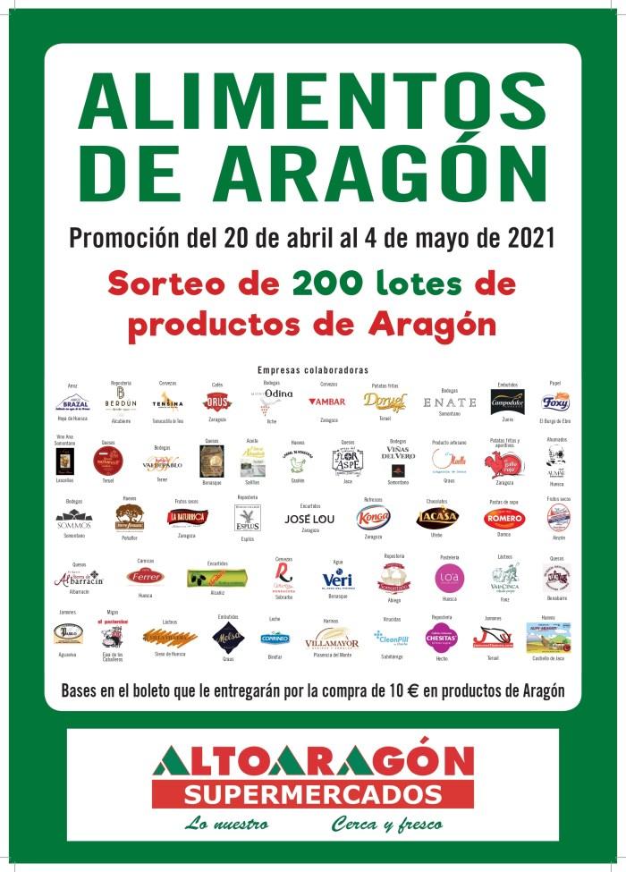 Supermercados Altoaragón retoma su campaña #LoNuestro, de apoyo al producto aragonés