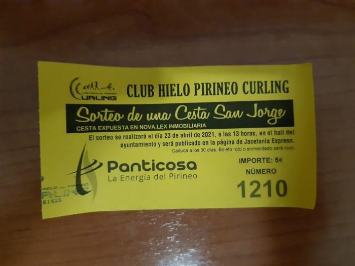 El Club Hielo del Pirineo entrega la gran cesta de San Jorge