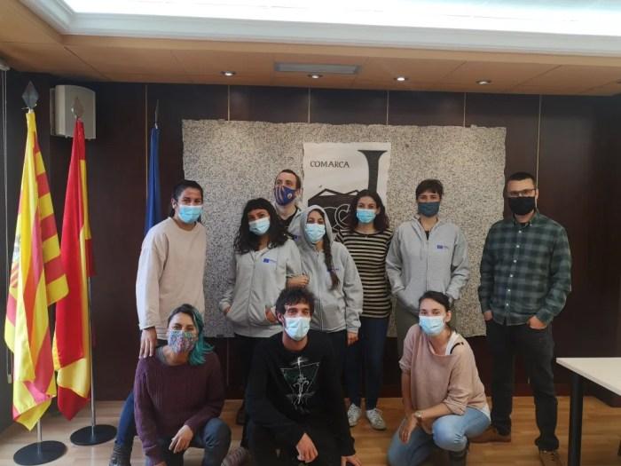 Voluntarios europeos en Artieda y Jaca. (FOTO: Comarca de la Jacetania)