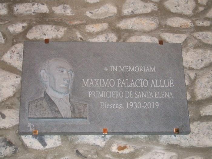 Homenaje a Máximo Palacio Allué, primiciero y ermitaño de Santa Elena de Biescas. (FOTO: Ricardo Mur)