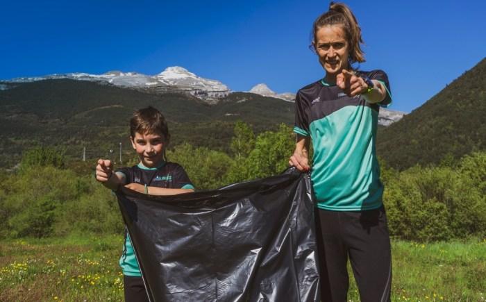 Virginia Pérez y Traliproject invitan a una jornada de plogging en Villanúa, en el entorno del Aragón.